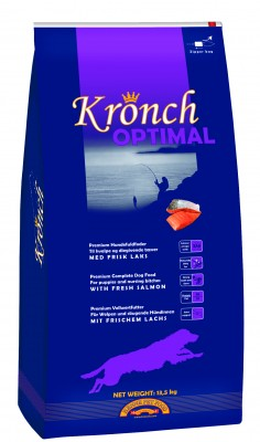 Kronch Optimal 2 x 13,5kg ( 27kg )  +  lososový olej 250ml gratis
